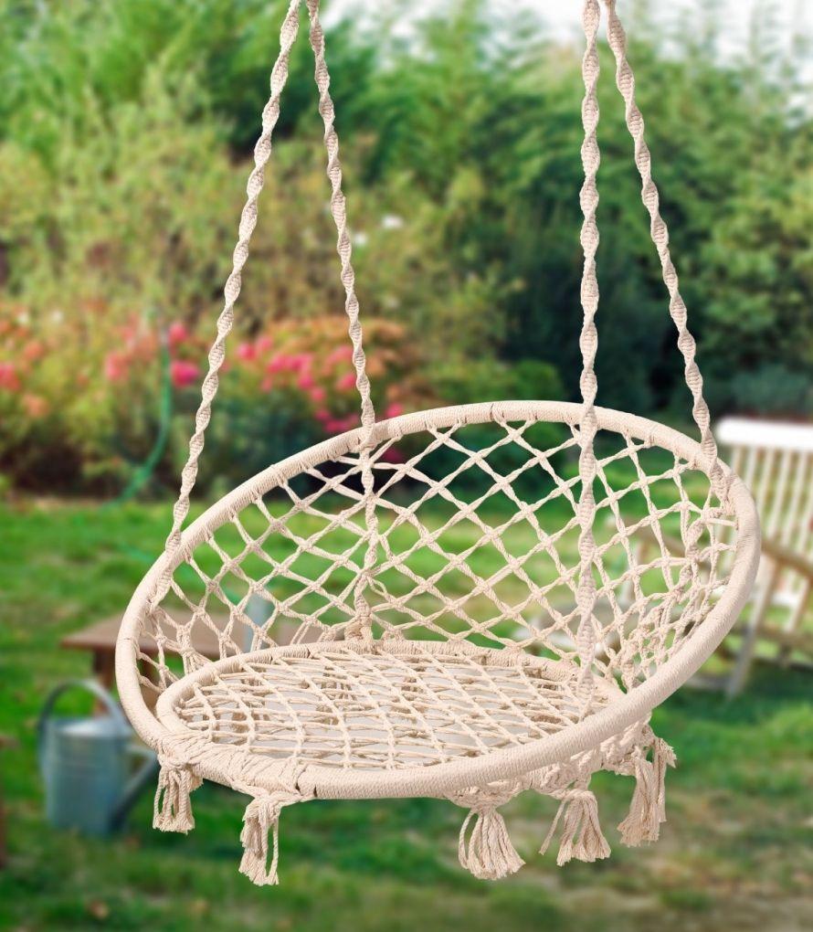 Nordic style hanging chair swing chair garden pinterest swing