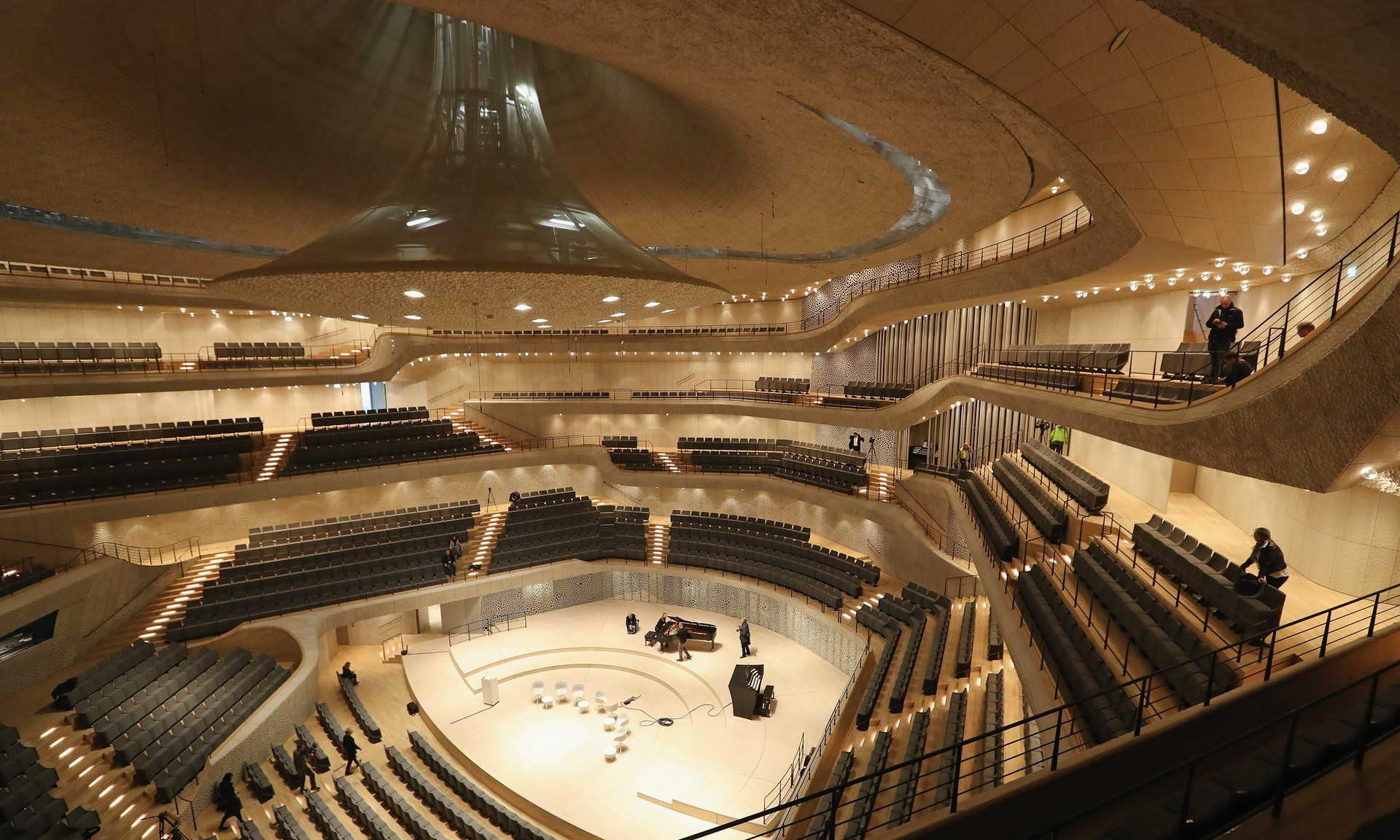 We Thought It Was Going To Destroy Us Herzog And De Meuron S Hamburg Miracle Concert Hall Theatre Interior Elbphilharmonie Concert Hall