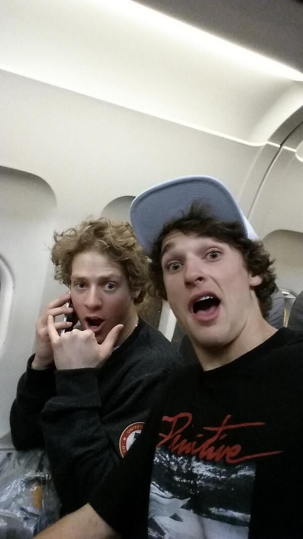U.S. Olympic skiers Joss Christensen and Nick Goepper make their way home through a series of poorly planned connecting flights. Check out their travel nightmare documented through selfies.  #Olympics #photography #twitter #selfies #ski #gold #bronze