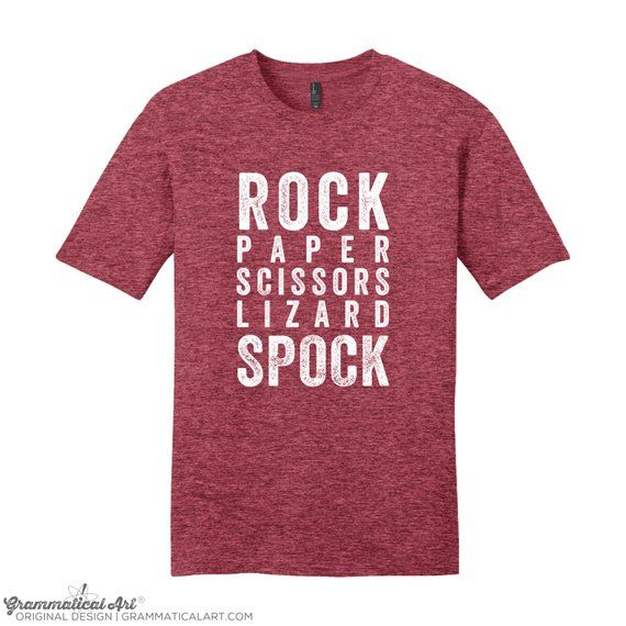 Rock Paper Scissors Lizard Spock Funny 10 Colours Kids // Childrens T-Shirt