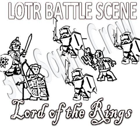 lego lord of the rings coloring pages middle earth free