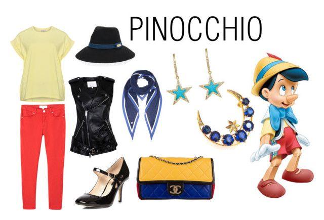 Disney - Pinocchio by vlahos-kron on Polyvore featuring moda, 3.1 Phillip Lim, MANGO, Dorothy Perkins, Chanel, Jennifer Meyer Jewelry, Loro Piana, Henri Bendel, Weg and disney