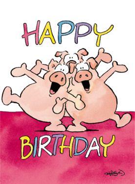 Afbeeldingsresultaat voor happy birthday varken