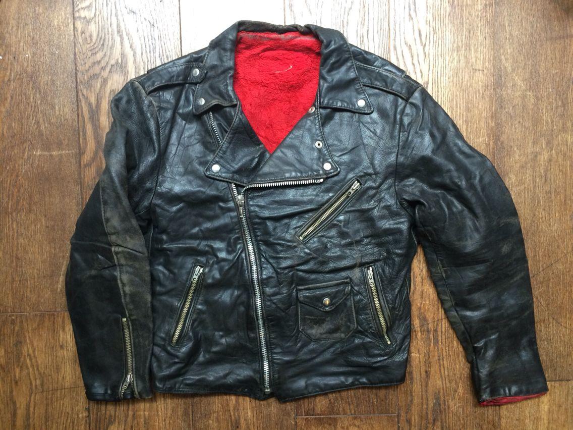 vintage leather biker jacket mens uk