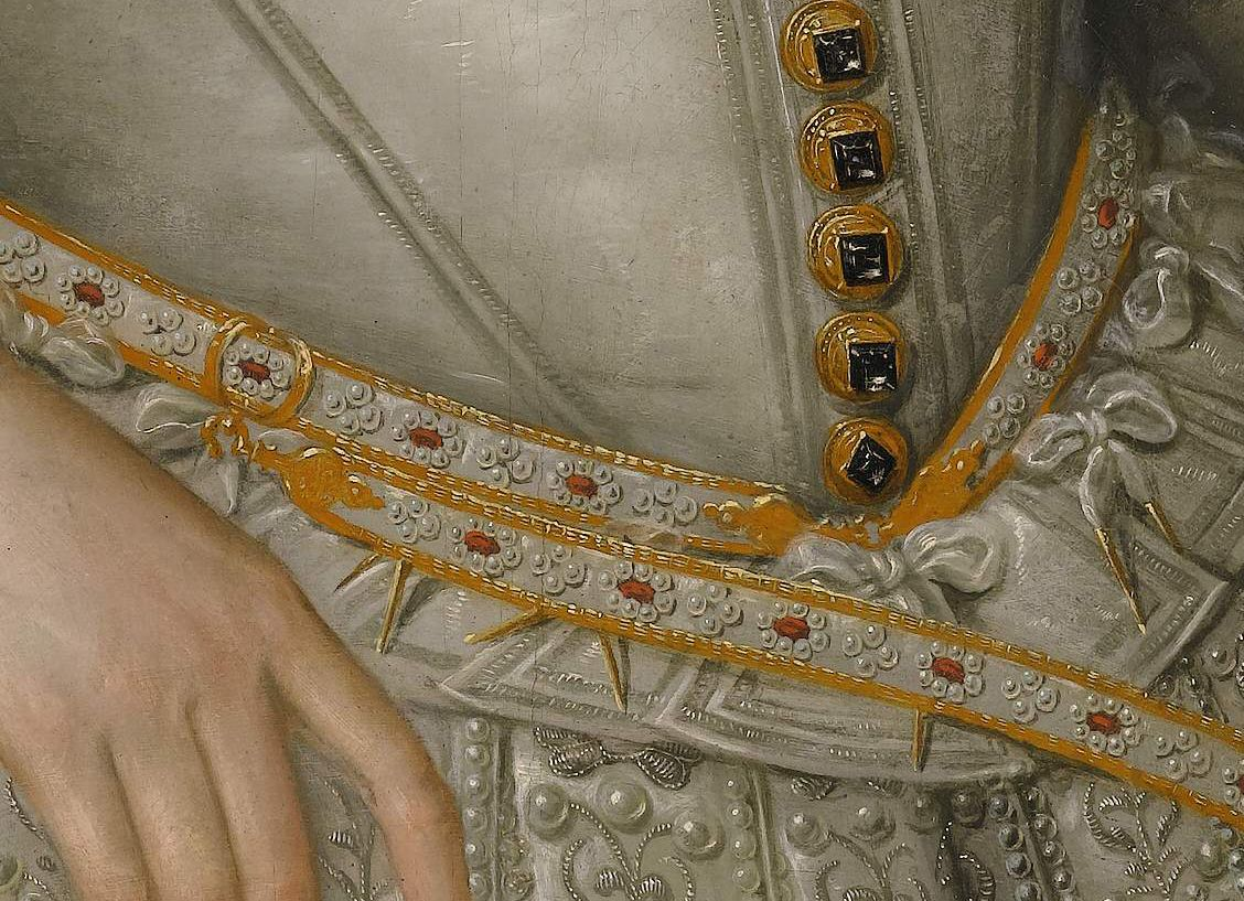 Detail of a sword belt from a painting of James I of England from a painting by de Critz. ©Sotheby's