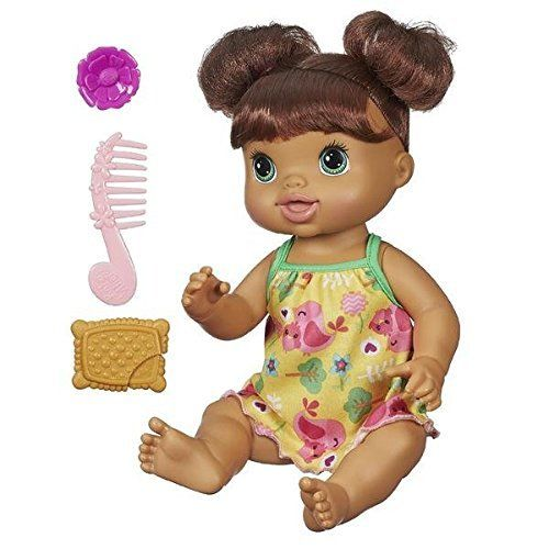 Amazon Com Baby Alive Pretty In Pigtails Brunette Toys Games Baby Alive Baby Dolls Baby Alive Magical Scoops