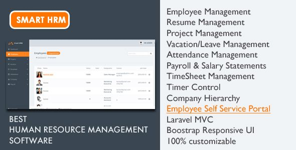Smart HRM - HR Software with Project Management, Payroll