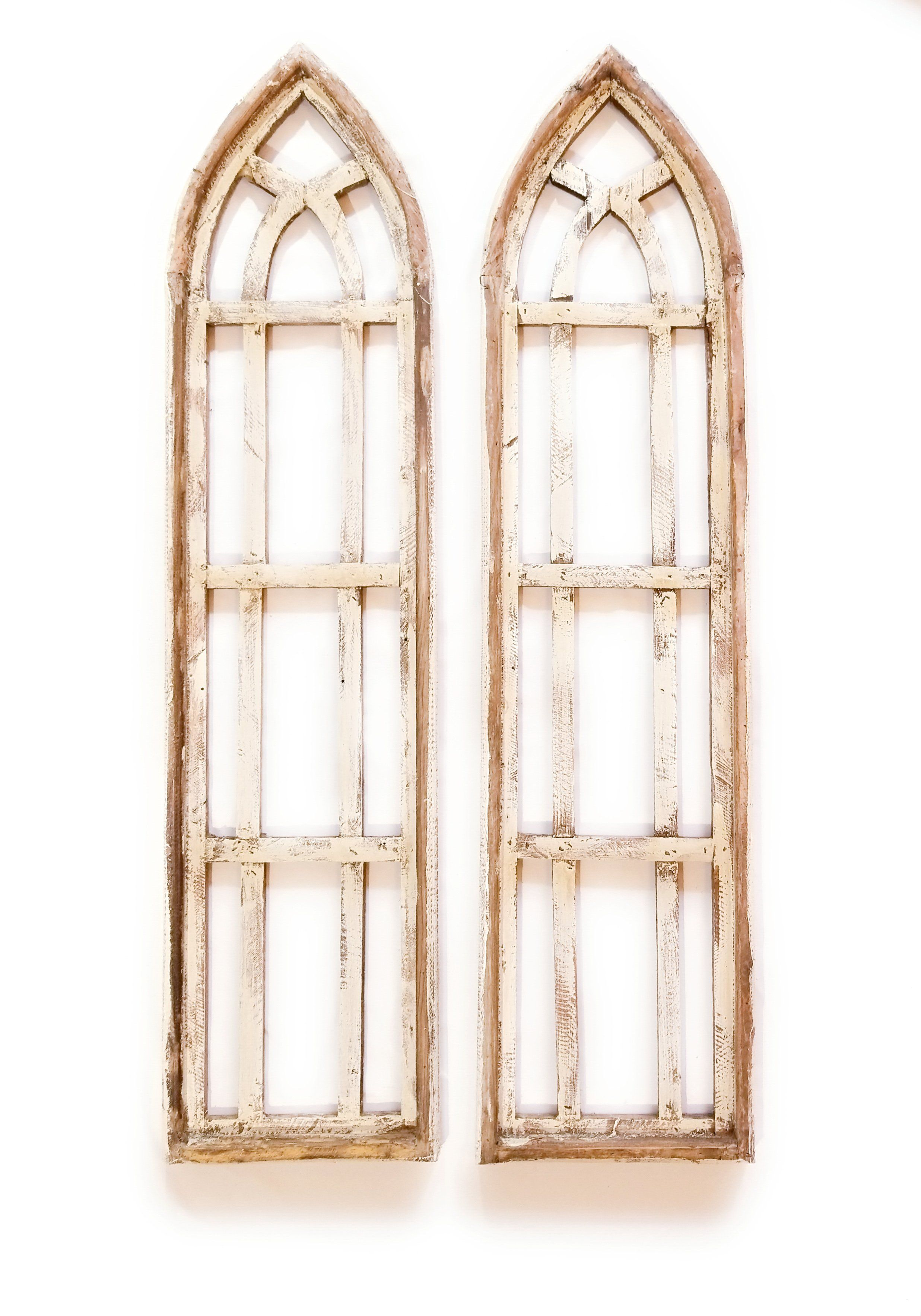Farmhouse Wooden Wall Window Arches Set Of 2 Three Sizes Rustic