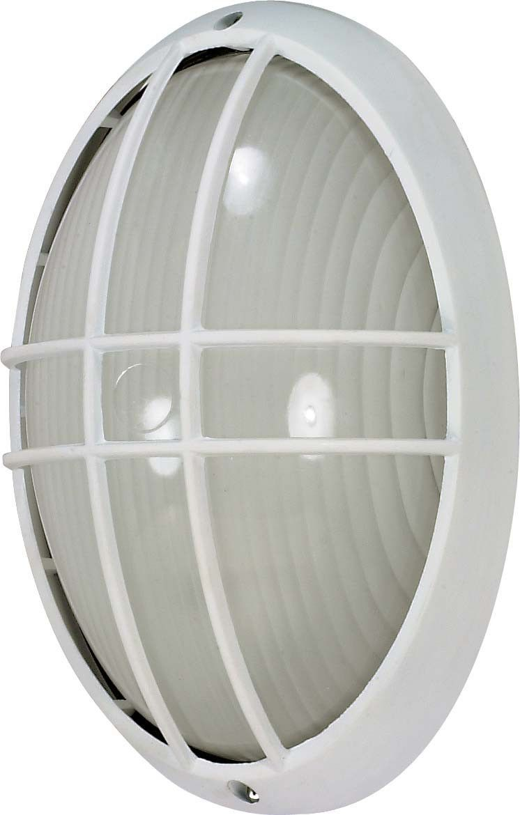 Nuvo 1 Light Cfl 13 In Large Oval Cage Bulk Head 13w Gu24 Lamp Included Modern Outdoor Wall Lighting Outdoor Wall Lighting Bulkhead Light