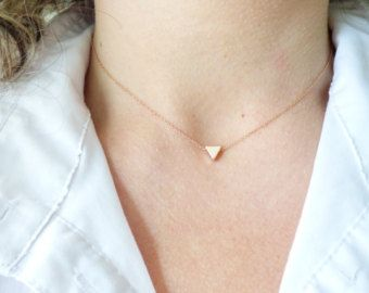 Tiny Rose Gold Circle NecklaceSimple Dainty Necklace Ultra Thin