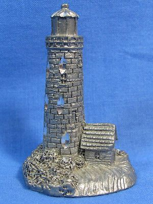Vintage Spoontiques Light House Island Small Pewter Metal