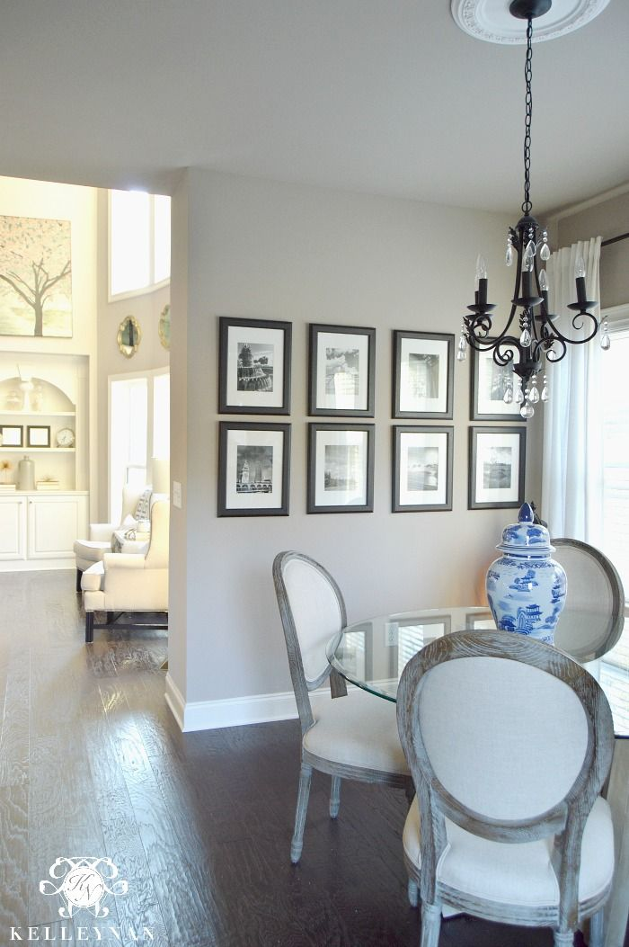 Sherwin williams perfect greige in kitchen breakfast nook - Paint colors for living room and kitchen ...