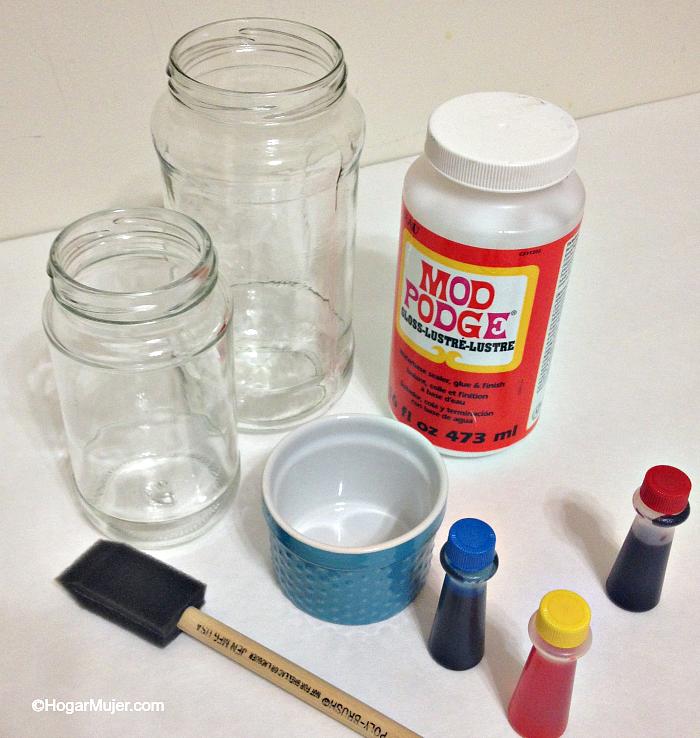 Como te ir frascos y botellas de vidrio para decorar la - Decorar botellas de cristal ...