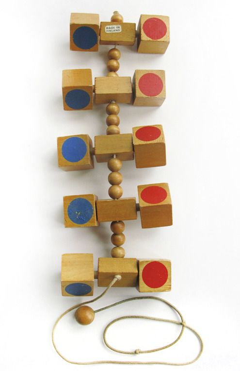Modern Toy Box Living Room: 1971 Creative Playthings Finnish Wooden Pull Toy