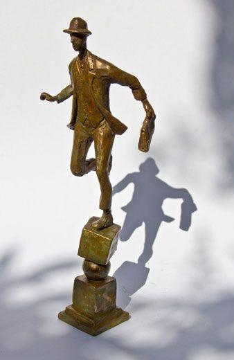 Keep the Balance, Bronze  Sculpture by Uri Dushy