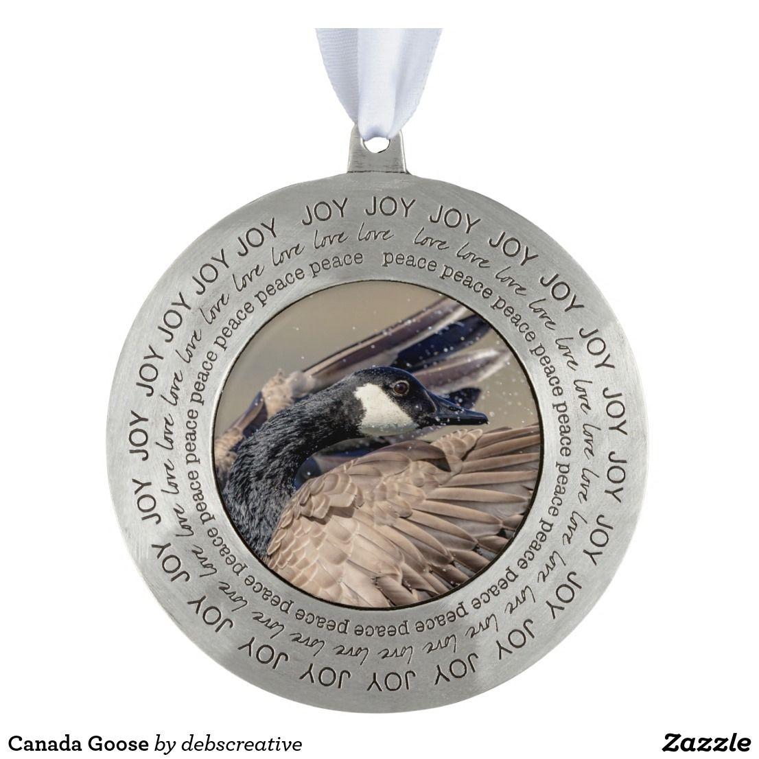Canada Goose Ornament Peace, love, Canada
