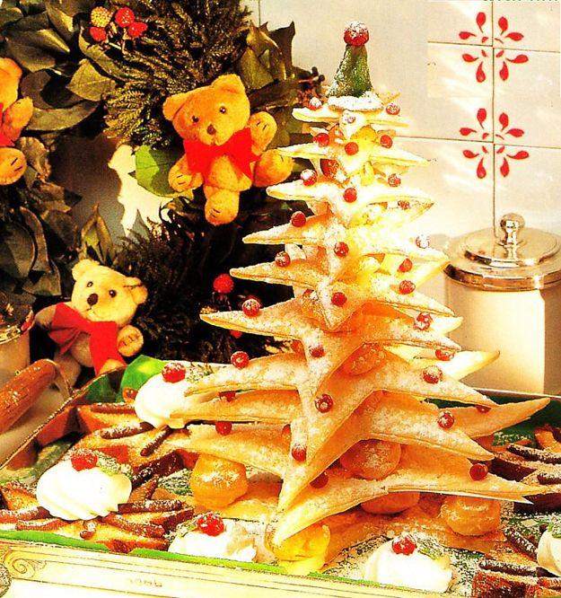 Albero Di Natale Con Dolci.Albero Di Natale Dolce Con Strati Ripieni Di Crema Ottimo