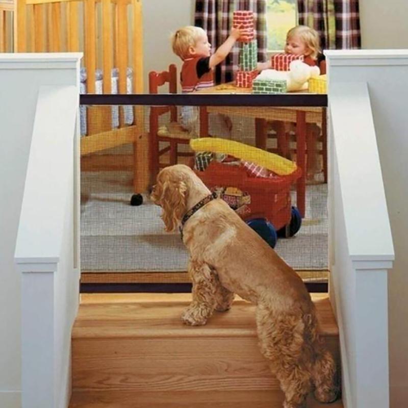 Pets Dog Safety Gate Mesh Fence - 180*72CM / 1PC