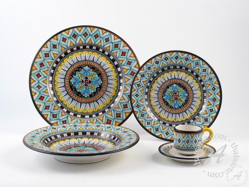 Italian Dinnerware \u003c Deruta ceramics Fima - Vario F4 | Buy Italian pottery at Thatsarte  sc 1 st  Pinterest & Italian Dinnerware \u003c Deruta ceramics: Fima - Vario F4 | Buy Italian ...