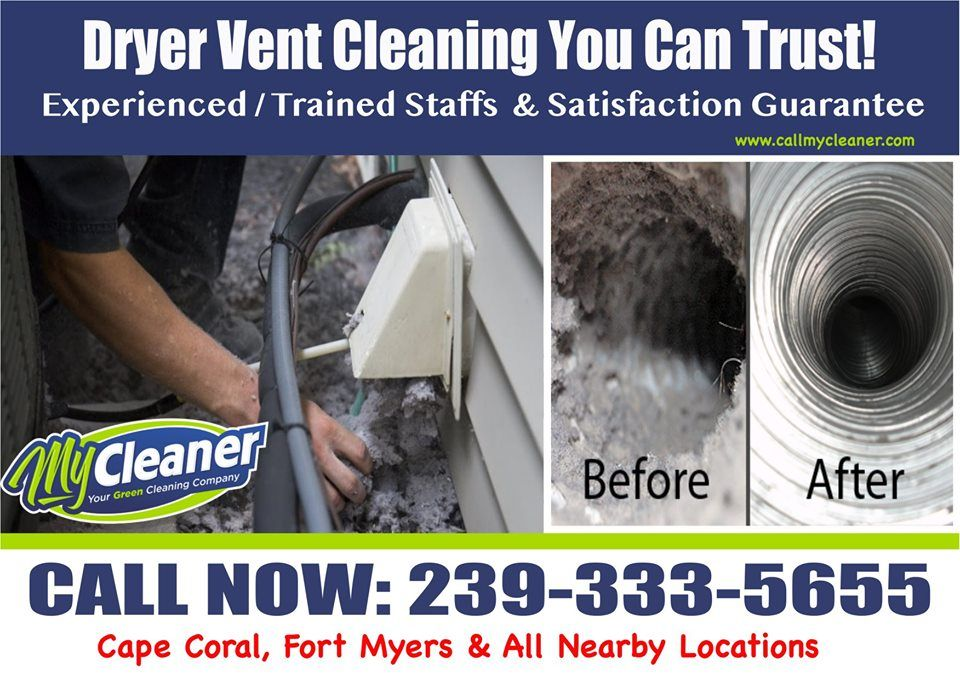 Dryer Vent Cleaning Benefits:  Save time  Save money  Improve fire safety  Decrease health risks  According to the National Air Duct Cleaners Association, the average American home produces 40 pounds of dust per year!  We have the right equipment for the job, and clean air ducts mean cleaner indoor air quality for your whole family.  #dryerventcleaning #dryerventcleaners #dryerventcleaningservice #professionaldryerventcleaning #dryerventcleaningcapecoral #capecoralflorida