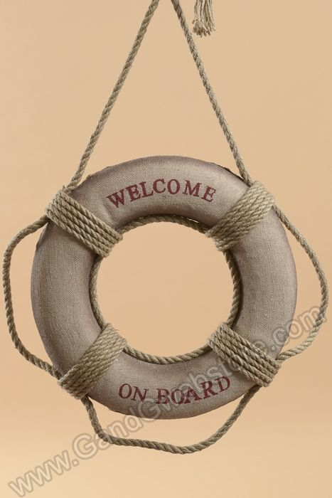 "14"" FOAM ""WELCOME ON BOARD"" ROPE LIFEBELT, GandGwebStore.com has a wide selection of sea ornaments for all of  your decorative needs. Tenemos una amplia seleccion de adornos de mar para todas sus necesidades decorativas."