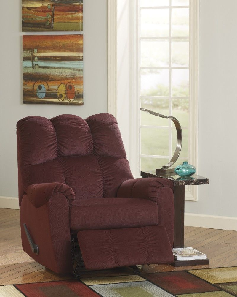 Get Your Raulo   Burgundy   Rocker Recliner At Sleep Shoppe And Furniture  Gallery, Hutchinson KS Furniture Store.