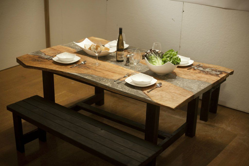Concrete And Wood Dining Room Table DIY