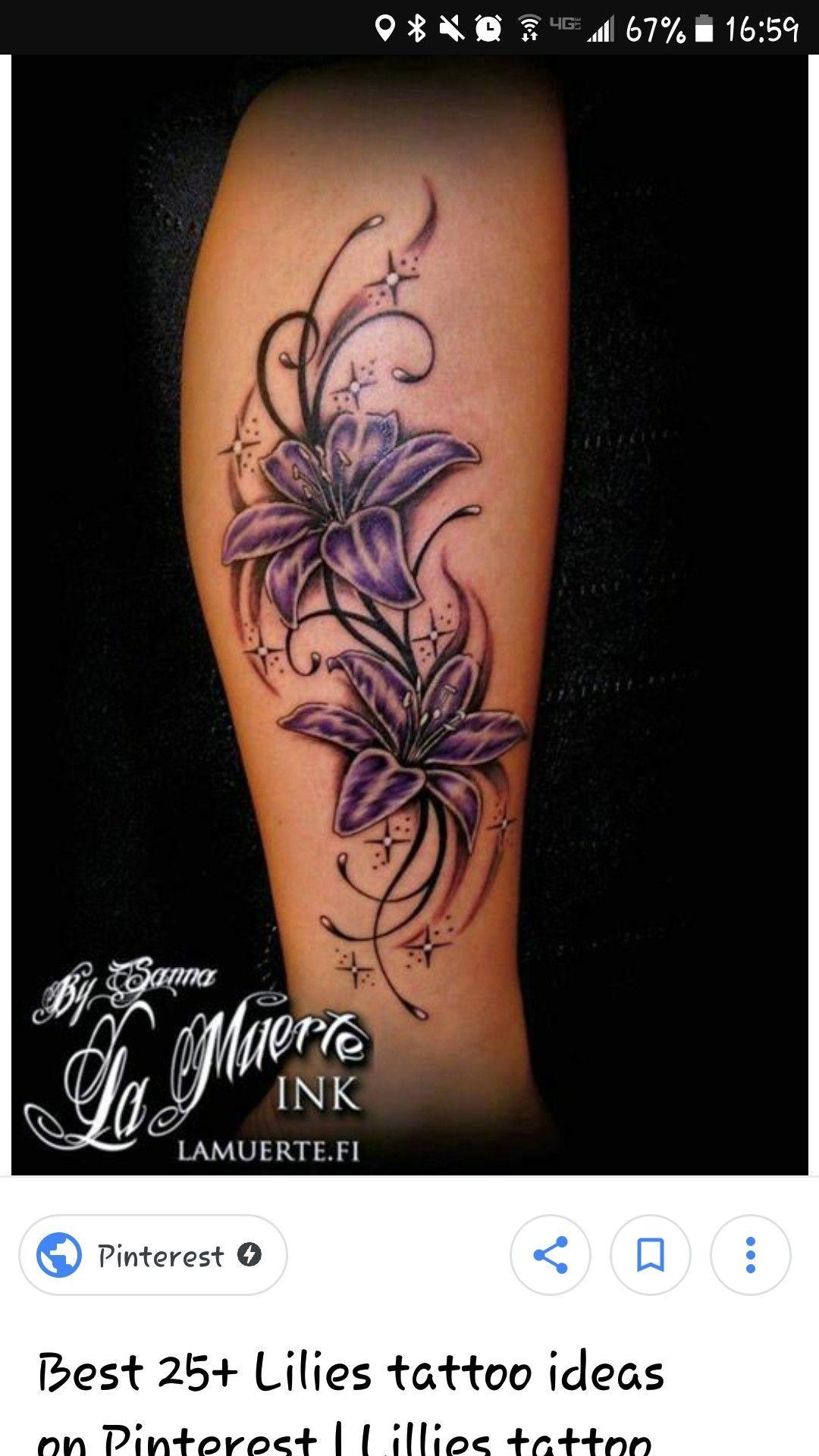 Pin Von Yvonne Kropp Auf Tattoos Tatowierungen Lilien Tattoo