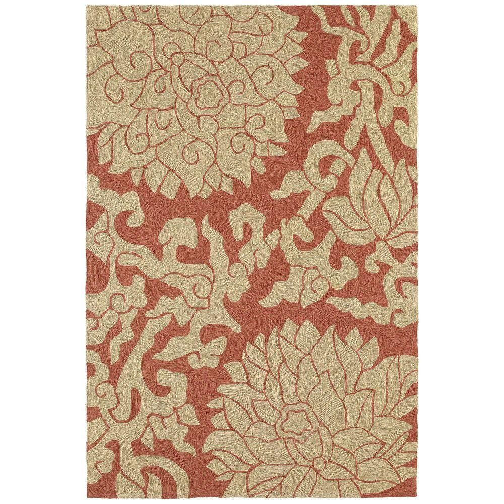 Habitat Bahama Rose Paprika Red 5 Ft X 7 Ft 6 In Indoor