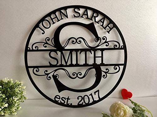 New Personalized Family Last Name Sign Initial Split ...