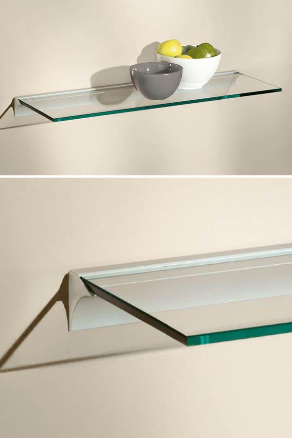 Square Rail Glasboard Wandregal Glas Glasregal Regal