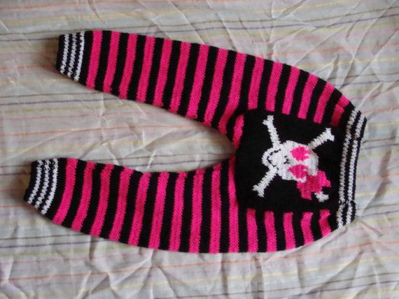 Hey, I found this really awesome Etsy listing at https://www.etsy.com/listing/116526434/baby-punk-rock-pink-and-black-striped
