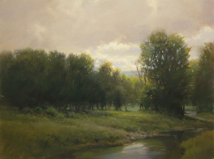 """Evening in Young's Meadow,"" original oil painting, 12x16, Available at Rich Timmons Studio & Gallery, 3795gallery.com"