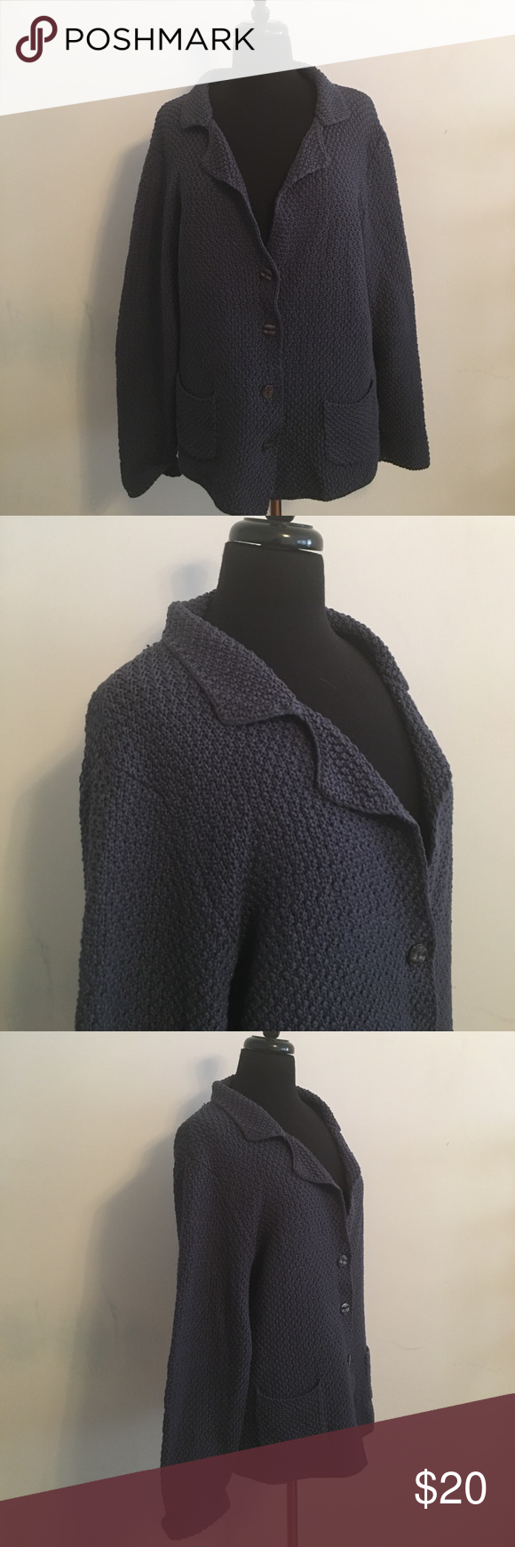 Boden Navy Sweater Bust: 46 inches Length: 27 inches Sleeve: 24 inches 100% Cotton Boden Sweaters Cardigans