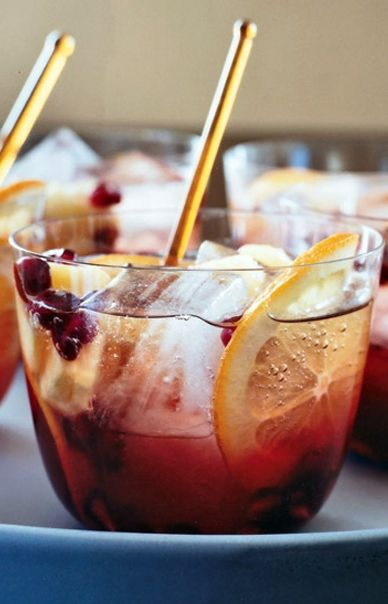 To please a crowd without spending all night tending bar, try a trendy punch. We like this Sparkling Pomegranate Punch...