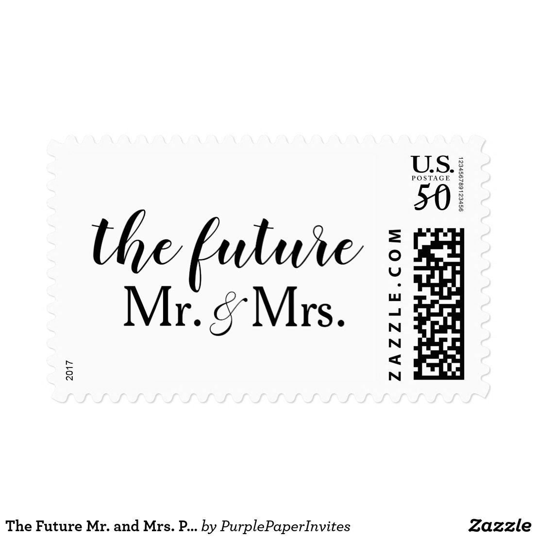 The Future Mr  and Mrs  Postage Stamps | Custom | Zazzle com