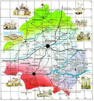 Carte De La Dordogne Vacances En Dordogne La Dordogne Dordogne