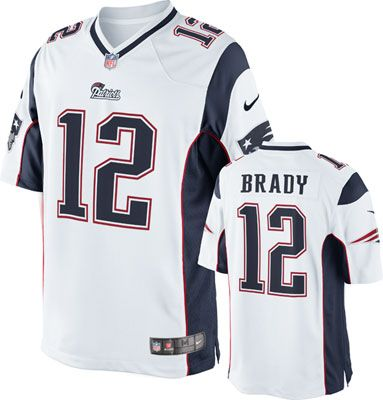 New England Patriots Jersey Tom Brady Jersey: Away White Color