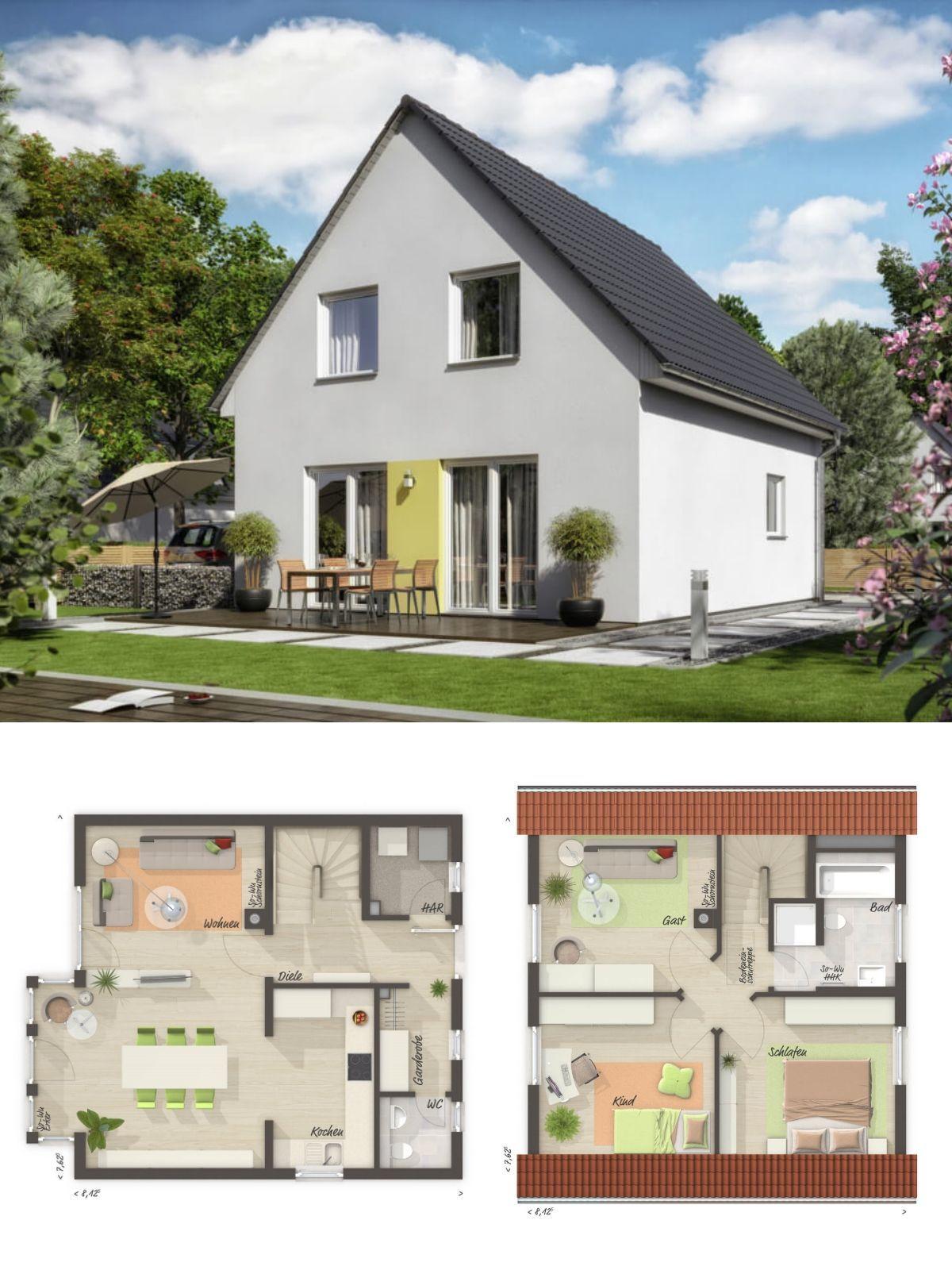 einfamilienhaus neubau grundriss klassisch mit satteldach architektur erker anbau haus bauen. Black Bedroom Furniture Sets. Home Design Ideas