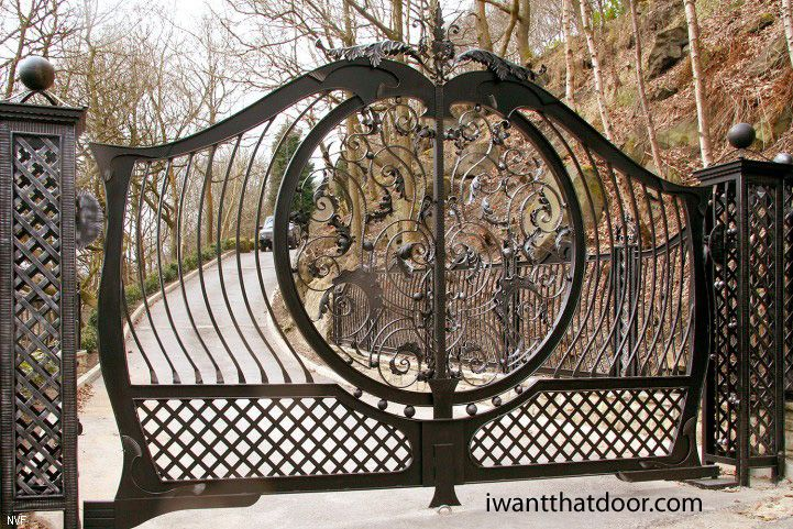 Iron Gates Wrought Iron Gates Hand Forged Gates Driveway Gates