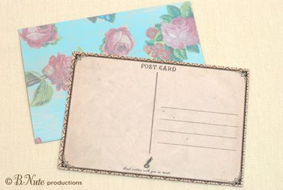 Free Printable Vintage Style Postcard Back From B Nute