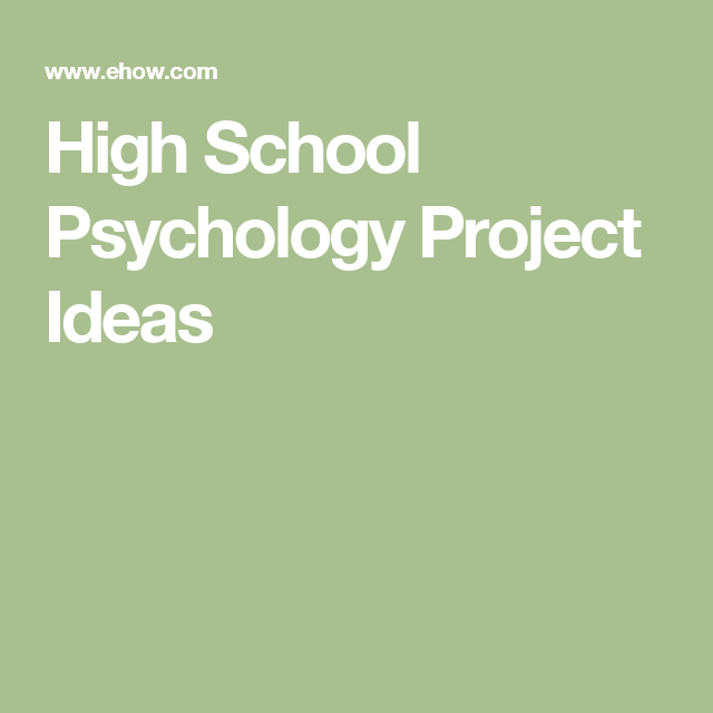 final year psychology project ideas