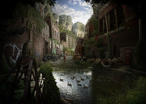 Nick Pedersen S Overgrown Post Apocalyptic Environments In 2020 Post Apocalyptic Post Apocalyptic City Apocalyptic