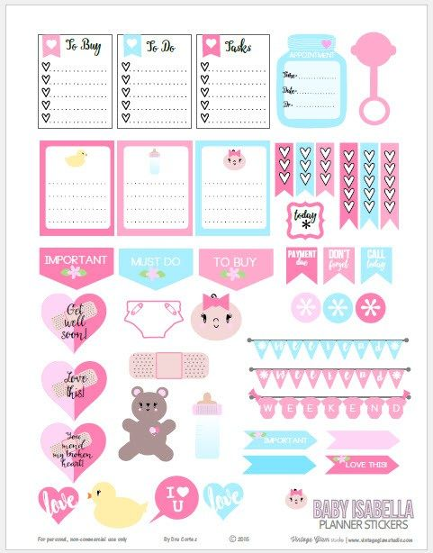 Baby Themed Planner Stickers | Free Printable Download ...