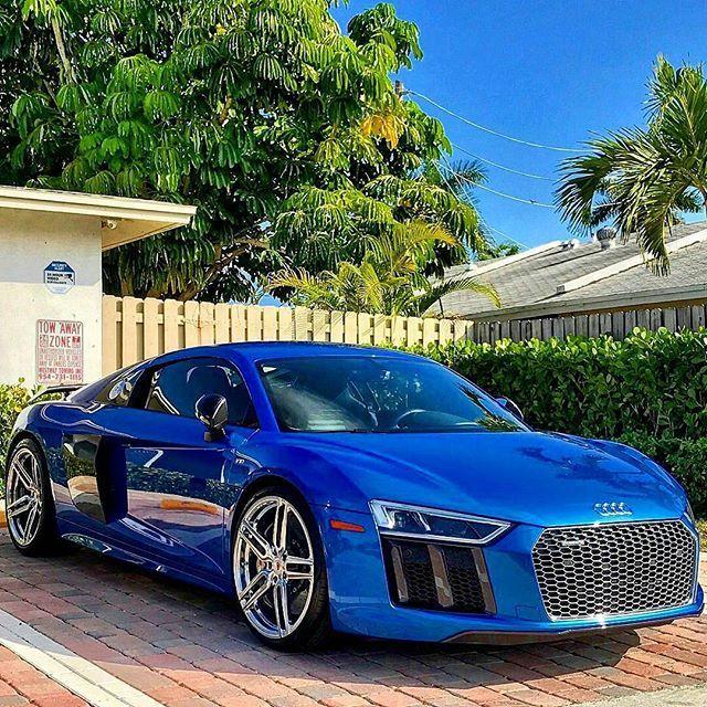 Blue Audi R8 . Rate 1-100!! Follow @autobells Follow