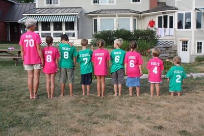 Love This Idea T Shirts With Each Grandchilds Name And Age For Grandmas 70th Birthday