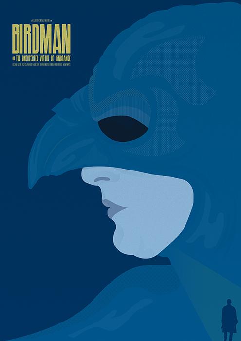 Birdman - minimal film poster