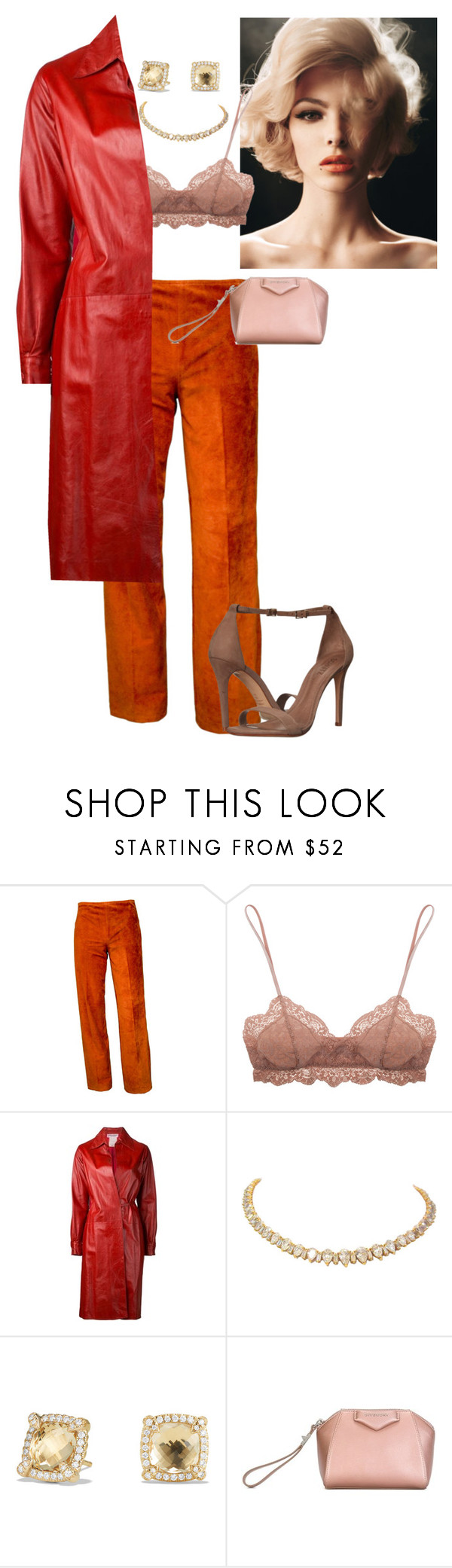 """Untitled #324"" by californiamariposa ❤ liked on Polyvore featuring Eberjey, Yves Saint Laurent, David Yurman, Givenchy and Schutz"
