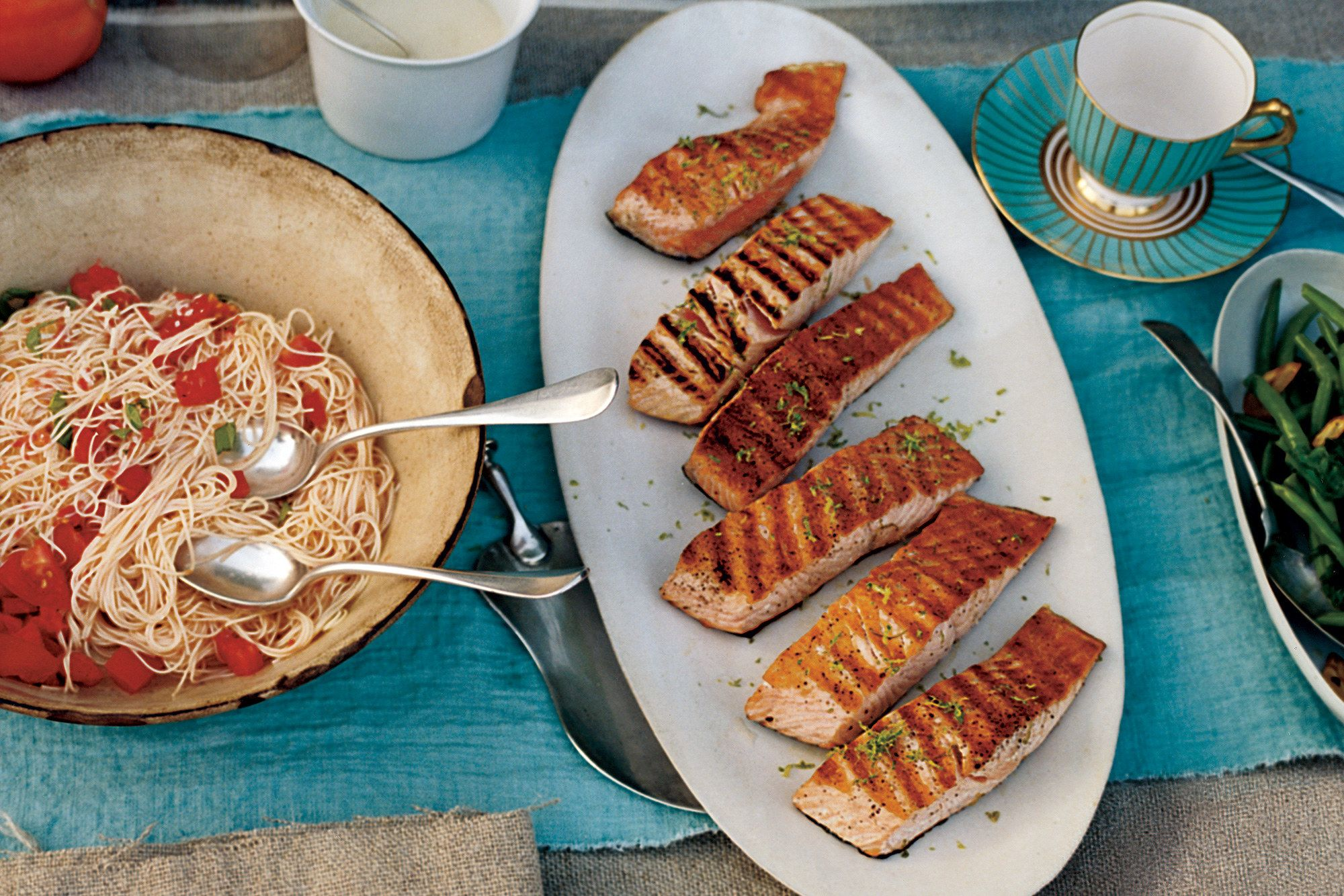 Grilled Salmon With Lime Butter Sauce Recipe Grilled Salmon Lime Butter Grilled Fish Recipes