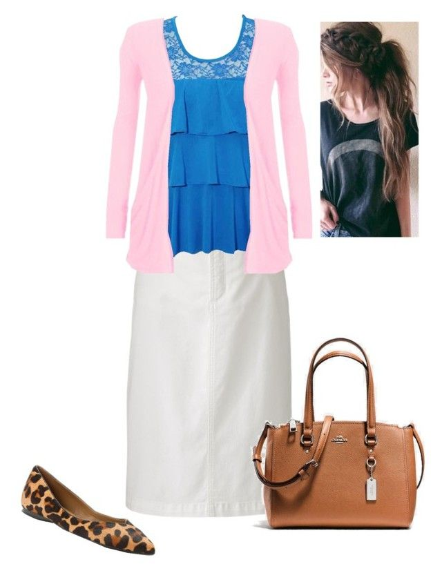 """Untitled #481"" by brendansara1018 on Polyvore featuring Croft & Barrow, French Sole FS/NY and Coach"
